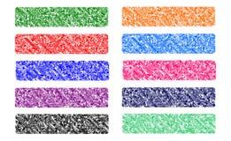 Установите знамена сеть или заголовок сети, красочный, первоначально Стоковое Изображение
