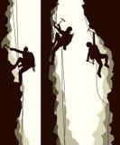 Установите знамена alpinists иллюстрация штока