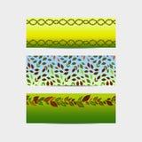 Установите знамен кленового листа, красочной иллюстрации предпосылки для поздравительной открытки или дизайна иллюстрация вектора