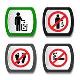 Установите значки запрета иллюстрация штока