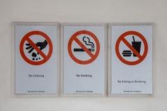 Установите значки запрета Стоковые Фотографии RF