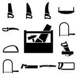 Установите значки инструментов Стоковая Фотография RF