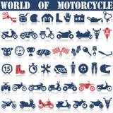 Установите значки мотоцикла Стоковая Фотография