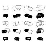 Установите значки sms сообщения иллюстрация штока