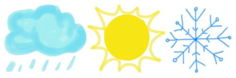 Установите значков погоды на белой предпосылке ( иллюстрация штока