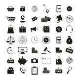 Установите значков покупок 42 дело финансов иллюстрация вектора