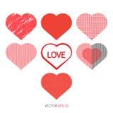 Установите значок влюбленности сердца Стоковое Фото