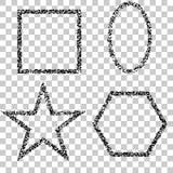 Установите золотых геометрических рамок, Дизайн вектора декоративный для плакатов, знамен Элегантная сусаль рождества, роскошная бесплатная иллюстрация