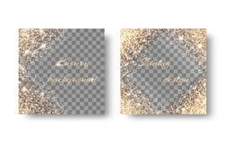 Установите диаманты на прозрачной предпосылке Стоковые Фотографии RF