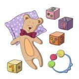установите игрушки Стоковая Фотография RF