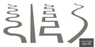 Установите изогнутые трассы иллюстрация штока
