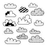 Установите изолированного облака мультфильма бесплатная иллюстрация