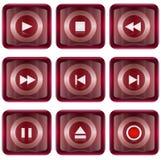 Установите икону красное #08 иллюстрация вектора