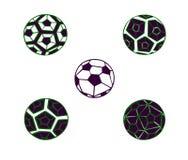 Установите иллюстрацию абстрактного футбольного мяча контура иллюстрация вектора