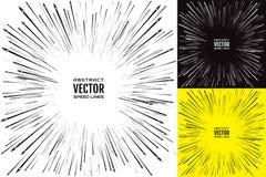 Установите линию скорости с стрелками Праздничная иллюстрация с взрывом силы влияния элемент конструкции рождества колокола векто Стоковое Изображение RF