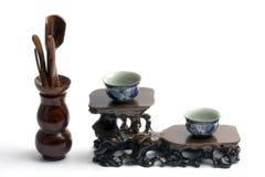 установите инструменты чая стоковые фотографии rf