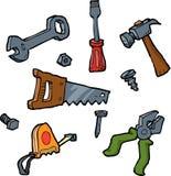 установите инструменты Стоковые Изображения RF