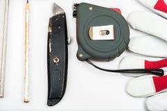 установите инструменты Стоковая Фотография RF