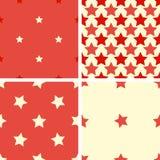 Установите картину цвета геометрическую безшовную с пятиконечными звездами Иллюстрация вектора