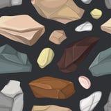 Установите картины камней иллюстрация вектора