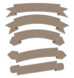 Установите кожаные ленты, различные формы Стоковое Фото