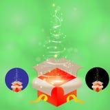 Установите коробку рождества Стоковые Фото