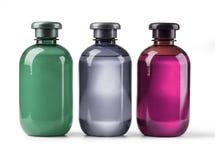 Установите косметические бутылки Стоковые Изображения RF