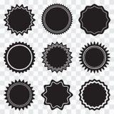 Установите круглых черных ярлыков r иллюстрация штока