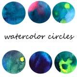 Установите кругов акварели бесплатная иллюстрация