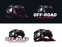 Установите логотипа и эмблем классического suv внедорожного стоковое фото rf