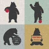 Установите медведей потехи знака Стоковое фото RF