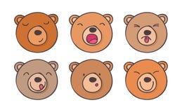 Установите медведей smileys Стоковые Изображения RF