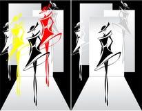 Установите модный парад Стоковое Фото