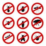 Установите москита запрета знака анти- - вектора бесплатная иллюстрация