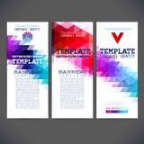 Установите набор фирменного стиля или набор дела с художническим, абстрактным дизайном шаблона вектора Стоковое Изображение