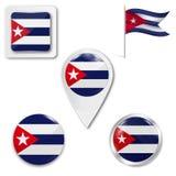 Установите национального флага иллюстрация вектора
