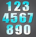 Установите номера полигона от 0 до 9 Стоковое Изображение