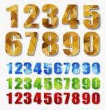 Установите номера полигона от 0 до 9 Стоковое фото RF