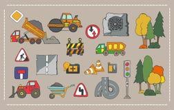 Установите обслуживание дороги автомобиля Стоковые Фотографии RF