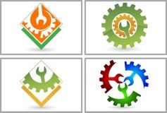 Установите логотип електричюеского инструмента собрания иллюстрация вектора