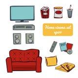 Установите домашнее ТВ Бесплатная Иллюстрация