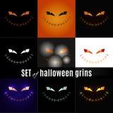 Установите оскалы хеллоуина Стоковая Фотография RF