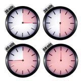 установите отметчики времени Стоковая Фотография RF