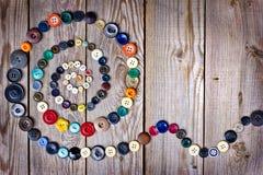 Установите от кнопок сбора винограда Стоковое Изображение