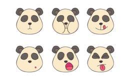 Установите панд smileys Стоковая Фотография RF