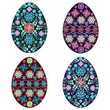 Установите пасхальное яйцо, вектор, multicolor Стоковое Фото