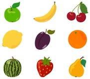 Установите плодоовощ, икону Стоковое Изображение