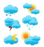 установите погоду символов Стоковое Изображение RF