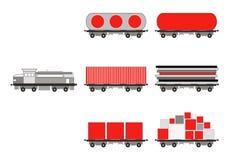 установите поезд Бесплатная Иллюстрация