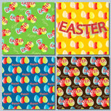 Установите праздники пасхи предпосылок, конспект с пасхальными яйцами Стоковые Фотографии RF